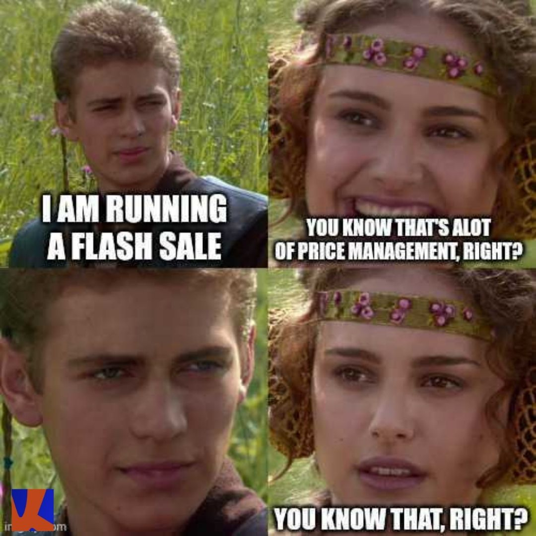 Running a flash sale is a lot of price management