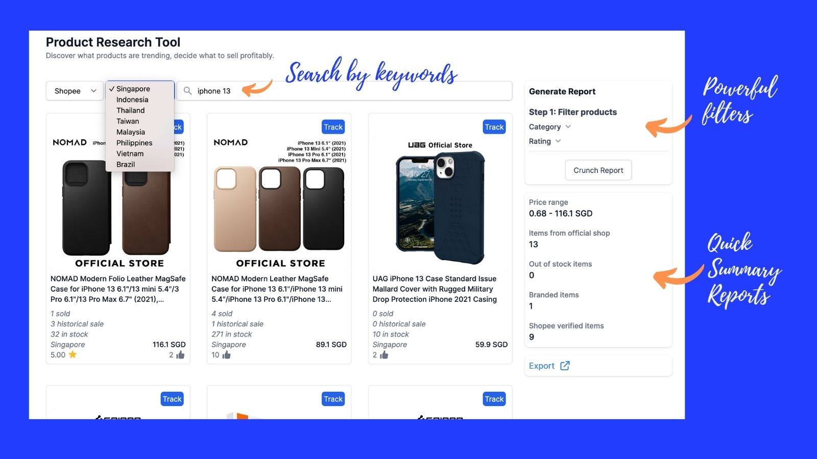 shopee product research tool